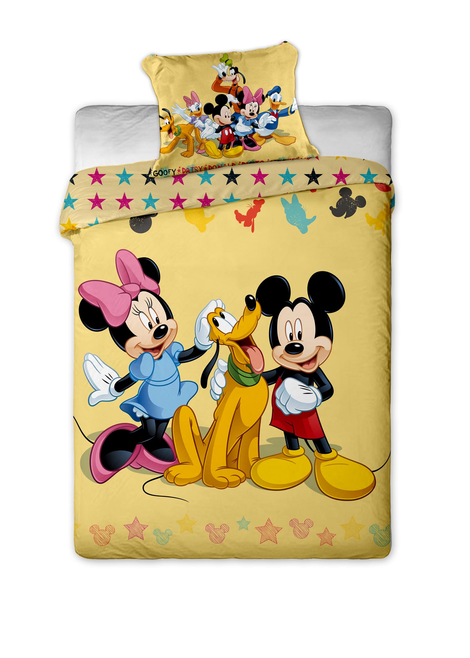 Mickey Minnie Mouse Pluto Friends Duvet Cover Set Disney Single Size
