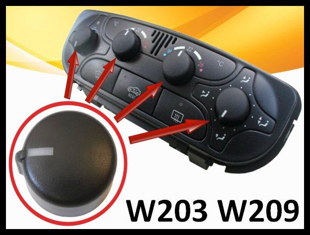 Mercedes w203 w209 clk commande ventilation chauffage air for Chauffage interieur voiture