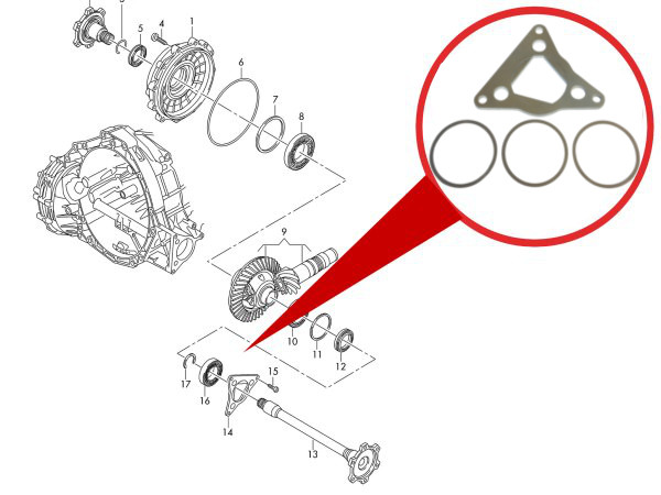 Details about DRIVESHAFT TRANSMISSION PLAY SHAKE ? REPAIR SET AUDI A4 B8 8K  A5 8T A6 C7 A7 Q5