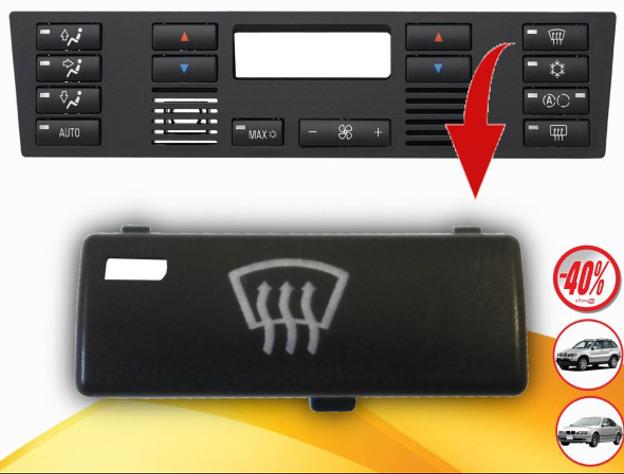 für BMW 5er E39 X5 E53 Klimabedienteil Schalter Taste Auto