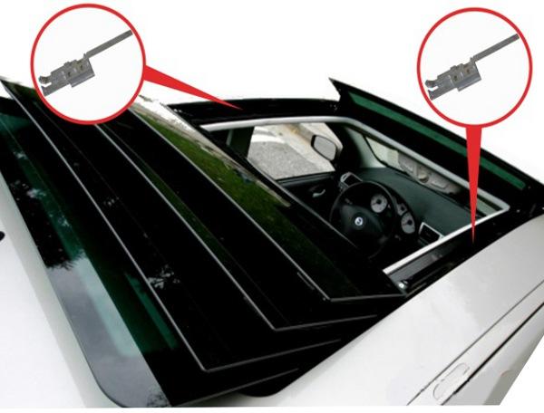 Details Sur Toit Ouvrant Kit De Reparation 2x Glissiere Pour Fiat Stilo 2001 2010