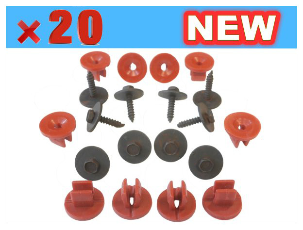FOR FORD FOCUS MONDEO ENGINE UNDERTRAY COVER CLIPS BOTTOM COVER SHIELD GUARD UK