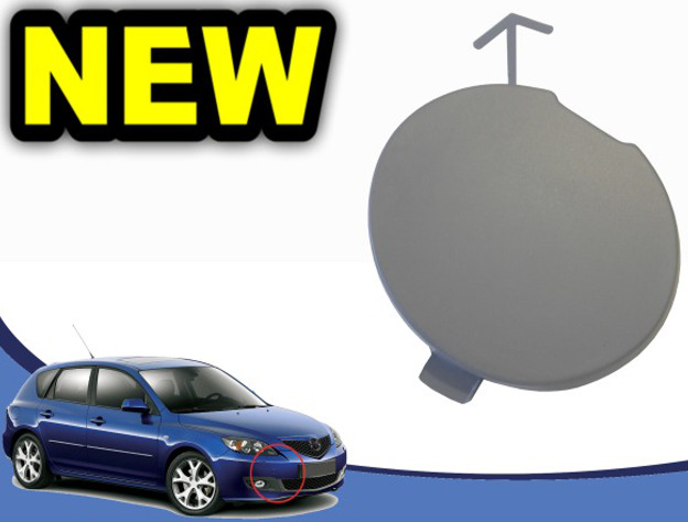 1Pcs Rear Bumper Towing Hook Eye Trailer Cover Cap For Subaru Forester 2011-2013