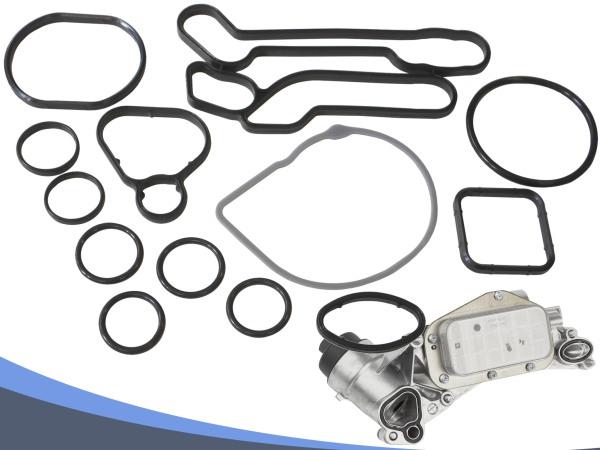 New Oil Cooler Gasket Set Repair 15pcs for Vauxhall Astra H J Corsa E Mokka 55354071 55353319 55353321 55355603